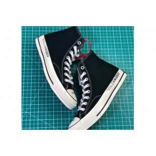 Virgil Abloh THE TEN Off-White x Converse Vulcanized Black Chucks High