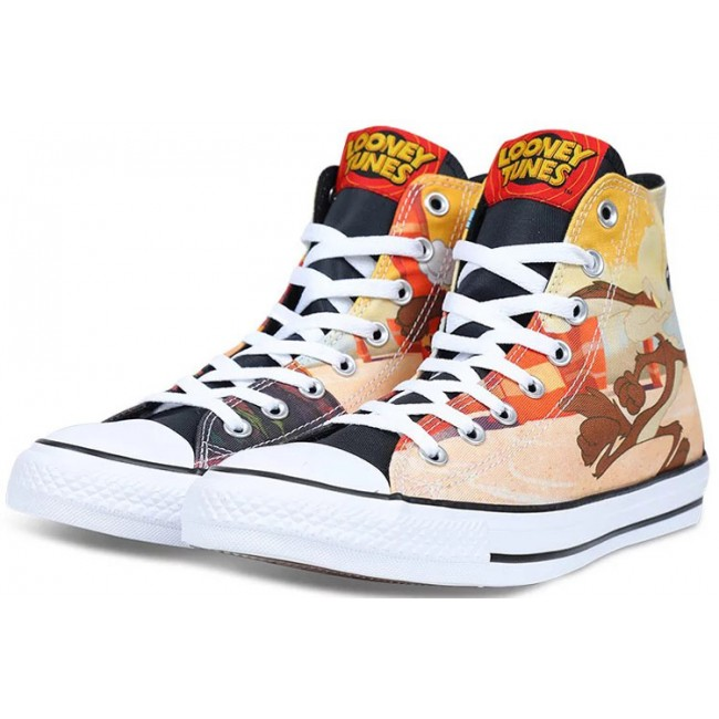 Warner Bros Converse Chuck Taylor All Star Looney Tunes Orange Canvas High