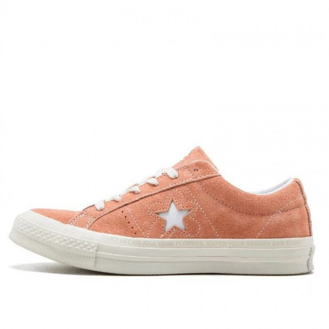 Converse One Star x Golf le Fleur Chucks Low Top Pink Suede Sneakers
