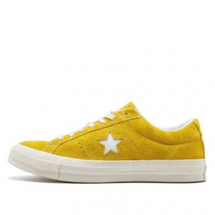 Converse One Star x Golf le Fleur Chucks Low Top Yelllow Suede Sneakers