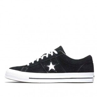 CONS SKATEBOARDING Pro One Star Chucks Tree Stars Low Tops Black Suede Sneaker
