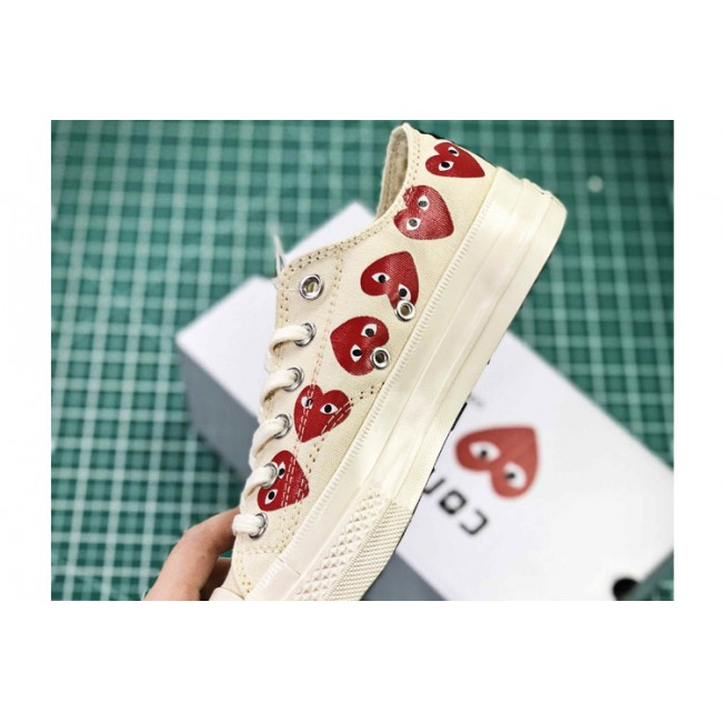 CDG PLAY x Converse Chuck Taylor Material OX Addict Vibram White Low All Star Chucks