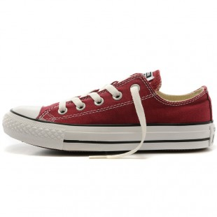 Classics Chucks All Star Maroon Low Top Canvas Sneakers