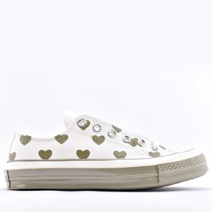 Converse 1970S Chuck Love Graphic Pattern Low white brown Women Shoes
