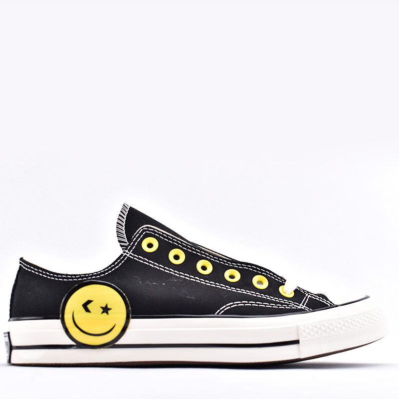 Star 1970s Big Yellow Smiley Face Low