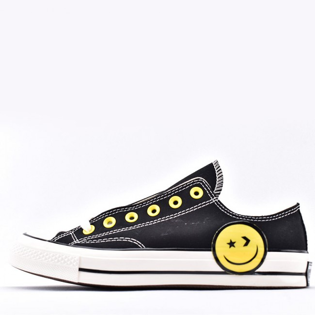 Converse Chuck Taylor All Star 1970s Big Yellow Smiley Face Low Top Sneaker