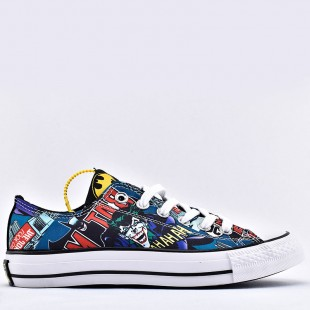 Converse x Batman Chuck Taylor All Star Unisex Low Top White Black Multi Shoes 167305C