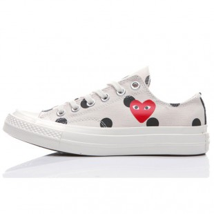Converse 1970s beige Comme Des Garcons Polka Dot Play All Star Low Tops Sneakers