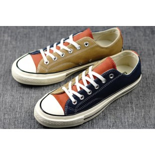 Converse All Star Chucks 1970s Assorted Colors Blue Khaki Low Suede Sneakers