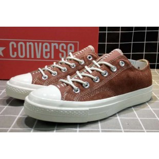 Converse All Star Chucks 1970s NBHD Patch & Darn Low Brown Shoes