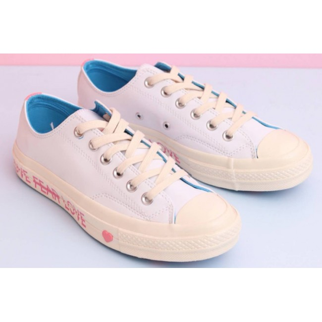 Converse Chuck 70 Love Graphic White Blue Low Top Leather 164558c
