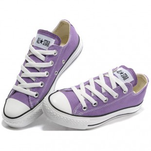 Purple Converse Chucks All Star Low Top Canvas Sneakers