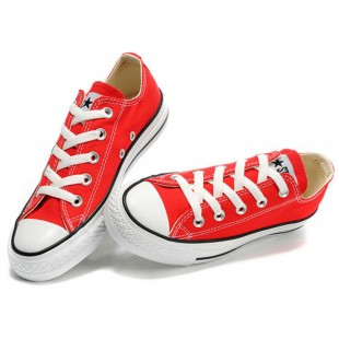 Classic Converse All Star Low Top Red Canvas Shoes