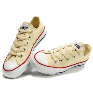 Classic Chucks All Star Low Top Unbleached White Canvas Sneakers