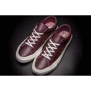 Converse Retro One Star Chucks Low Claret Leather Shoes