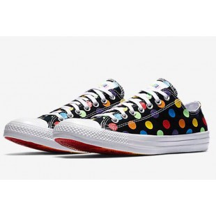 Converse x Miley Cyrus All Star Chuck Taylor Rainbow Polka Dot Black Low