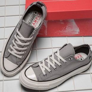 Gray Dover Street Market NY X Converse Chucks 70s Low Top Sneakers