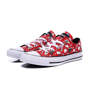 HELLO KITTY x CONVERSE Lovely All Star Red Low 163913C