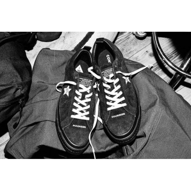 6f5cb1a49d589e MADNESS x Converse One Star Chucks Collection Black Low Sneakers ...