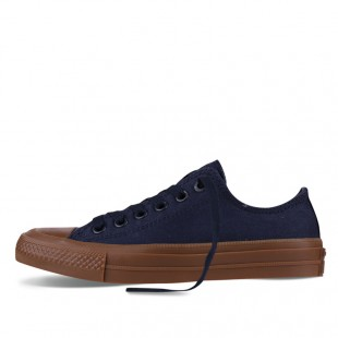 Monochrome Converse All Star Chucks II Gum Blue Low Top Canvas Sneakers