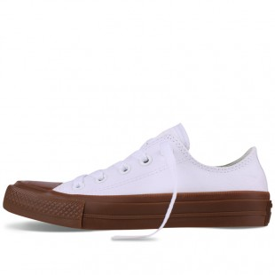Monochrome Converse All Star Chucks II Gum White Low Top Canvas Sneakers