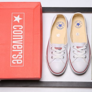 Newest Summer Converse All Star Ballet Flats Ladies Loafers Low Canvas White