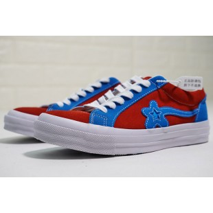 TTC Golf Le Fleur x Converse One Star OX Suede Blue Red Low
