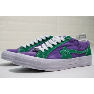 TTC Golf Le Fleur x Converse One Star OX Suede Purple Green Low