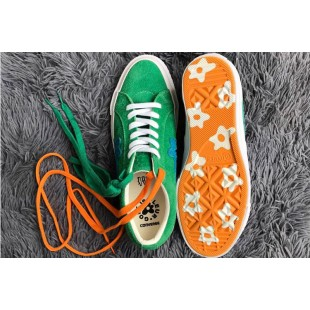 Tyler The Creator x Converse one star X Golf le fleur TTC Suede Jolly Green Low Sneakers