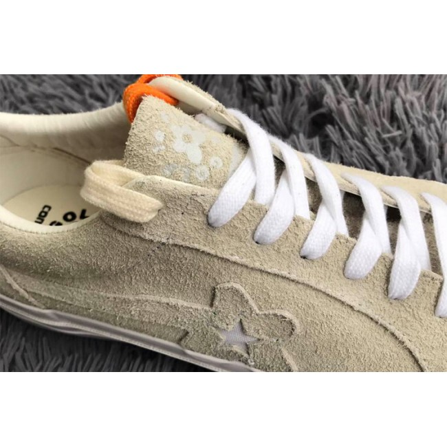 Tyler The Creator x Converse one star X Golf le fleur TTC Suede Vanilla Beige Low Sneakers