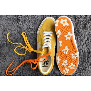 Tyler The Creator x Converse one star X Golf le fleur TTC Suede Yellow Low Sneakers