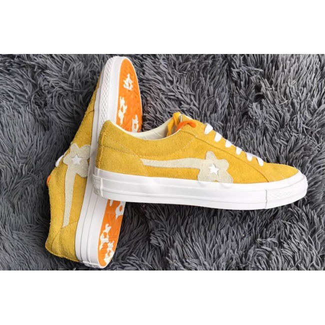 d73819271c3473 ... Tyler The Creator x Converse one star X Golf le fleur TTC Suede Yellow  Low Sneakers ...