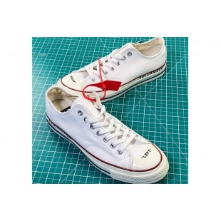 Virgil Abloh THE TEN Off-White x Converse Vulcanized White Chucks Low